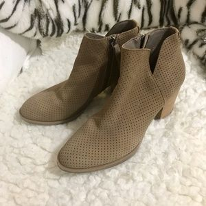 Dolce Vita perforated nubuck ankle booties, 7.5